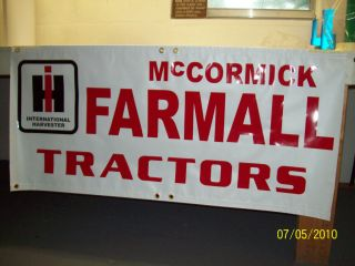 Farmall International Harvester Banner Sign