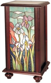 Cherry Dale Tiffany 1 Light Iris Wood Hand Rolled Art Glass DY 426