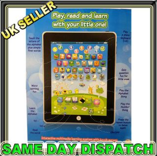 MY FIRST TABLET COMPUTER iPAD CHILDREN KIDS EDUCATIONAL PLAY READ GAME