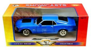 1970 Ford Mustang Boss 429 Hard Top 1 24 Scale Diecast Blue Motor Max
