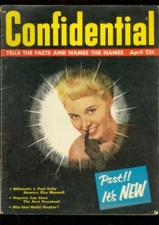 Confidential Apr 58 J Paul Getty Betty Page Opium RARE VG
