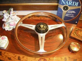 Jaguar XK 150 S fit XK 140 Nardi Wood Steering Wheel MADE 62 16 5 NOS
