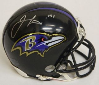 Jamal Lewis signed Baltimore Ravens Riddell replica mini helmet. Item