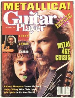 Guitar Player Magazine Metallica James Hetfield Kirk Hammett Jerry