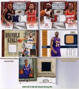 Sport Card Lot Robert Griffin 3 GU Patch Auto Lebron James Kobe Bryant