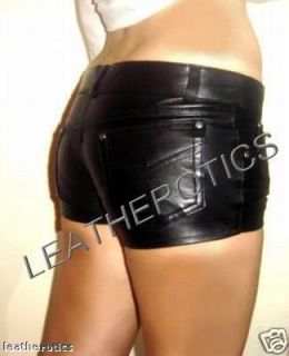 Real Leather Shorts Jeans Style Sexy Tight Fit Shop 272