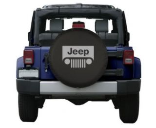 Brawny Series   Jeep® Classic 32 logo Black Denim Vinyl Tire Cover
