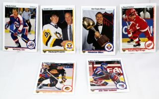 Jaromir Jagr Mike Richter and Others 1990 91 Upper Deck NHL Hockey