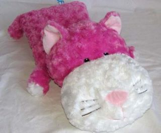 20 Jay at Play Pink PILLOWETTE Kitty Cat Flat Pillow Plush Stuffed Pal