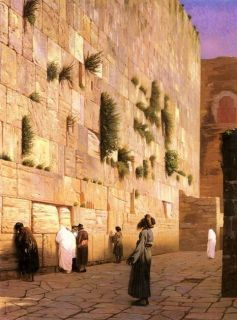 Solomon s Wall Jerusalem Jean Leon Gerome Repro Oil