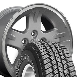 Set of 4 Jeep Wrangler Style Replica Wheels & Tires