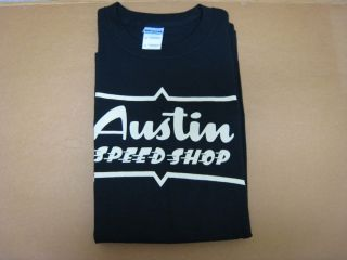 AUSTIN SPEED SHOP t shirt L jesse james rat hot rod ford chevy bobber