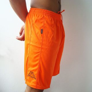 Kappa Mens Football Soccer Jersey Shorts Orange M L XL