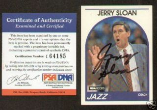 Jerry Sloan Signed Autographed Auto Hoops Card PSA DNA