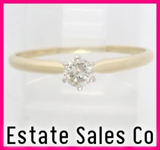14k Yellow Gold Round Diamond Solitaire Engagement Ring 22ct