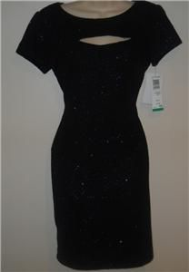 Jessica Howard Little Black Dress Size 10P Sparkle