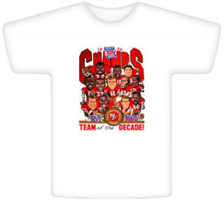 Joe Montana 1989 Super Bowl Champs Caricature T Shirt