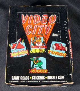 1983 Topps Video City Trading Card Box 36 Packs