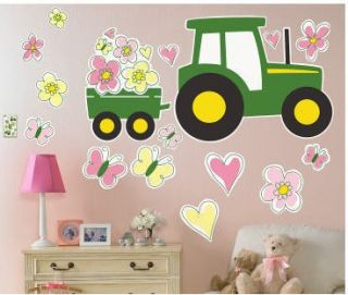 John Deere Pink Wall Stickers Mural 18 Big Decals Girls Room Decor