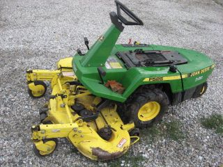 John Deere F525 front mount mower for parts or repair, 46 deck, needs