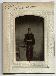 Identified Civil War Tintype John L Foster Web Info 14th REGD Band N Y