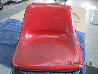 John Deere Red Patio Tractor Seat