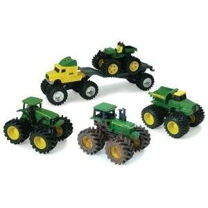 Ertl John Deere Monster Treads Toy Trucks and Tractors 5 Value Pack