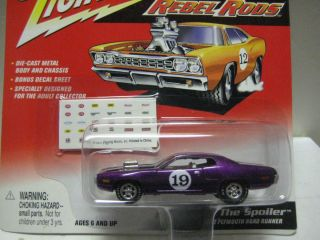 Johnny Lightning Rebel Rods Mint on Card The Spoiler '72 Roadrunner