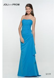 Joli 9117 Turquoise Chiffon Pageant Prom Gown Dress 20