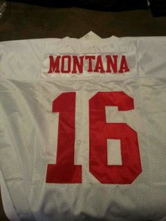 New Mitchell and Ness Joe Montana San Francisco Forty Niners Jersey Size 56