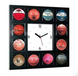Michael Jordan Signed Basketball Clock w 12 Pictures