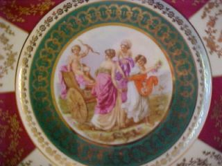 Royal Vienna Style Cabinet Plate Angelica Kauffman Art