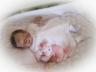 Reborn Baby Doll Sweet Baby Girl Joyce with Willbeth layette HUMAN HAIR