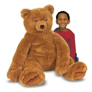 Plush Jumbo Brown Teddy Bear Giant Large Soft Stuffed Animal