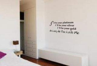 WALL ART JUSTIN BIEBER AS LONG AS YOU LOVE ME SONG QUOTE STICKER DECAL