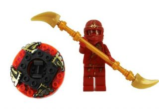 Ninjago Red NRG Kai Ninja Loose Figure Building Toy with Beyblade