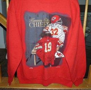 NFL KANSAS CITY CHIEFS FOOTBALL SWEATSHIRT RED SZ XL EMBROIDERED
