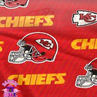 140226094 Kansas City Chiefs NFL Cotton Team Fabric by The Yard 6315 D