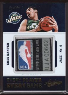 Enes Kanter 1 1 $1500 Huge NBA Logoman Jersey Patch Tag 12 13 Absolute