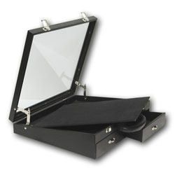 Angle Glass Top Locking Display Case