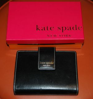 Kate Spade Black And Greens Leather Planner Organizer Calendar with