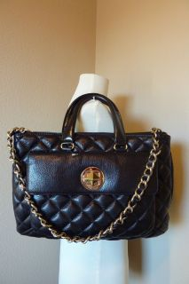 New Kate Spade Black Quilted Campbell Gold Coast Leather Bag $595