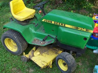 John Deere Hydro 314 Riding Mower Kohler Good Mower Tractor
