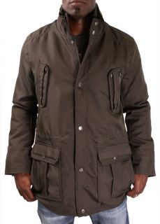 Kenneth Cole Reaction Mens Coated Ottoman Parka Coat