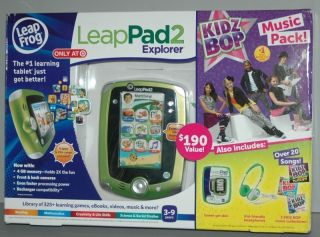 Leap Frog LeapPad 2 Explorer Kidz Bop Music Pack w/ Headphones & Gel