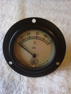 Vintage RARE Collectible Auto Moto Meter Oil Pressure Gauge