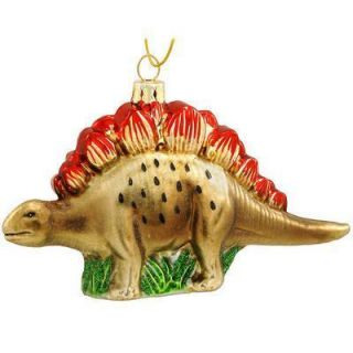 Kurt S. Adler 5.5 Noble Gems Stegosaurus Dinosaur Glass Ornament