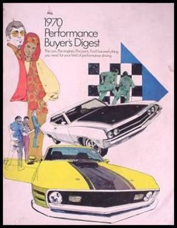 1970 Ford Performance Brochure Torino Mustang Mach I