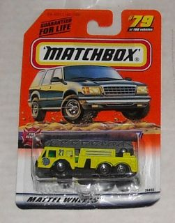 1998 Matchbox Extending Ladder Fire Truck 79 Oss