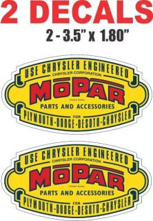 Dodge Mopar Chrysler Plymouth Parts and Accessories Decals Nice